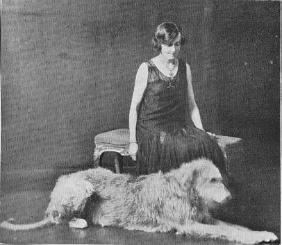 Mary Beynon and a wolfhound