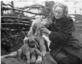 Bridget with puppy and Sheelagh