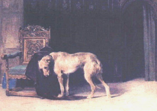 wolfhound and chair