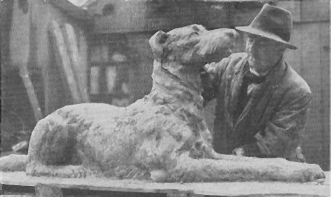 Sculpture of wolfhound