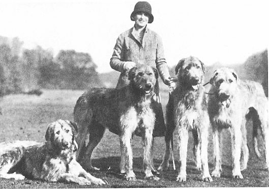 Patsy Rank with group of hounds